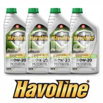 Kit 4 oleo 0w20 sintetico pro ds api sn havoline texaco full synthetic