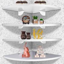 Kit 4 Prateleiras De Parede De Canto Organizadora P/ Quarto Sala Cozinha Em MDF 35 X 35 cm