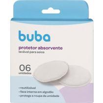 Kit 6 protetores absorventes laváveis p/ seios algodão buba