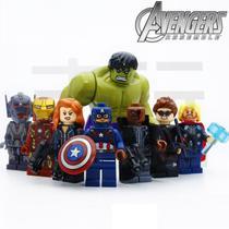 Kit 8 Vingadores Marvel Avengers Big Hulk Compatível Lego