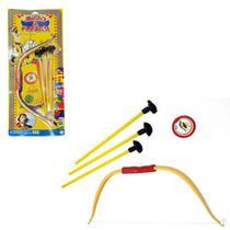 Kit Brinquedo Arco e Flecha c/ 1 arco + 3 flechas