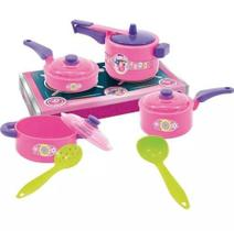 Kit Brinquedo Jogo Panelinha Infantil Rosa