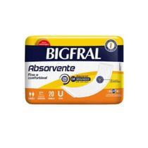 KIT C/ 05 Absorvente Geriátrico Bigfral TAM U - Pacote 20 un