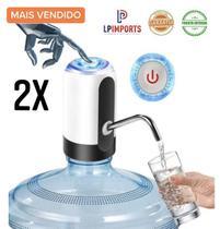 Kit c/ 2 Bombinha Elétrica Filtro Para Garrafão Galão de Água 10 5 20 litros mineral bomona  Recarregável pratico
