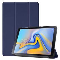 Kit Capa Capinha Case Smart Tablet Galaxy Tab A7 T500 T505 Couro Aveludada High Premium + Pelicula