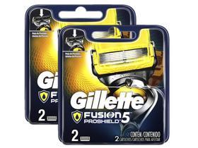 Kit Cargas Gillette Fusion Proshield com 4 unidades