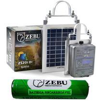 Kit Cerca Eletrica Solar Zebu com Bateria de Lítio ZS20iBI 37966