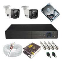 Kit Cftv 2 Câmeras Infra Gravador Dvr Com Acesso Internet