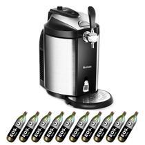 Kit Chopeira EOS Bierhaus Inox 5 Litros com Keg e 10 Cilindros de CO2 Alimentício 220V 220V