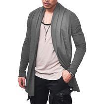 Kit com 02 Sobretudo Cardigan Casaco Masculino Blusa Frio Confortável  Slim Fitness