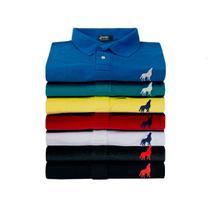 Kit com 10 Camisas Polo masculinas Vira Lata Originais Tecido Piquet