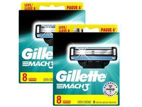 Kit com 16 Cargas Gillette Mach3 Regular
