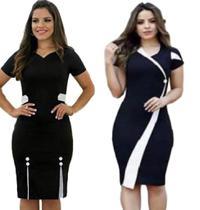 Kit Com 2 Vestidos Moda Evangélica Midi Tubinho