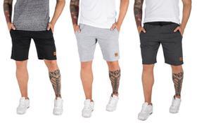 Kit Com 3 Bermudas Shorts Moletom Masculinas Casual Malhação