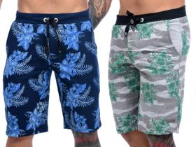 Kit Com 3 Bermudas Shorts Moletom Masculinas Premium