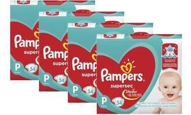 Kit Com 4 Pacotes Fraldas Pampers Supersec Atacado Barato P