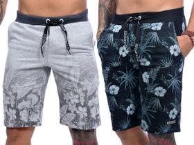 Kit Com 5 Bermudas Shorts Moletom Masculinas Premium Original