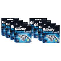 Kit com 8 Cargas Gillette Sensor Excel c/ 2 unidades