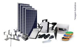 Kit Completo Usina Solar Com 6 Painel Fotovoltaico 1,980 Kwp