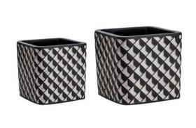 Kit Conjunto Cachepot em Cimento 3D Vaso Decorativo Enfeite