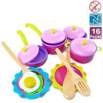 Kit Cozinha Infantil 16 Peças De Plástico Chefe