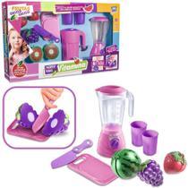 Kit Cozinha Infantil Com Liquidificador + Frutas E Acessorio - Oem