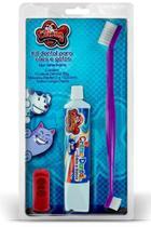 Kit Creme Dental e Escova longa + Dedal para Cachorro Tutti Fruti - Cat Dog