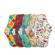 Kit de 5 Absorventes Menstruais de Pano Reutilizáveis