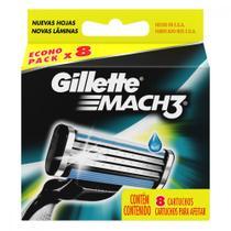Kit de Cargas para Aparelho de Barbear Gillette Mach 3 Regular - 16 Unidades