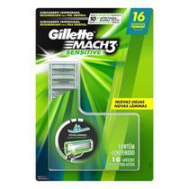 Kit de Cargas para Aparelho de Barbear Gillette Mach 3 Sensitive - 32 Unidades