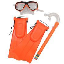 Kit de Mergulho Infantil Snorkel c/ Máscara e Nadadeira Bel