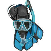 Kit de Mergulho Máscara+Respirador+Nadadeiras Cressi Bonete Pro