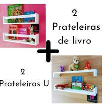 Kit de Nicho de Parede Porta Livro Pelúcia bonecos Para Quarto de Bebê Estante Livreiro Infantil 55 cm