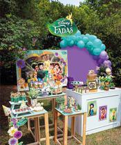 Kit Decoração Completo Só Um Bolinho Disney Fadas Para Festa