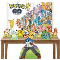 Kit Decoração de Festa Totem Display 8 peças Pokemon