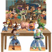 Kit decoração de festa totem display 8pçs+painel- Toy Story