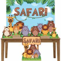 Kit Decoração Festa Totem Display 8 peças Safari