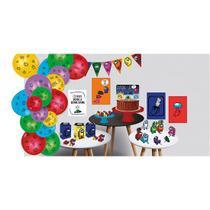 Kit Decorativo Só um Bolinho Festa Among Us