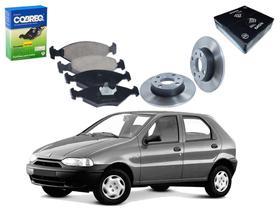 Kit disco pastilha freio dianteiro cobreq fiat palio 1.0 1996 a 2000