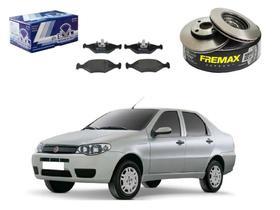 Kit disco pastilha freio dianteiro fremax fiat siena 1.0 1.3 1.4 2004 a 2009