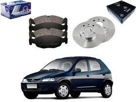 Kit disco pastilha freio dianteiro syl chevrolet celta 1.0 1.4 2000 a 2009