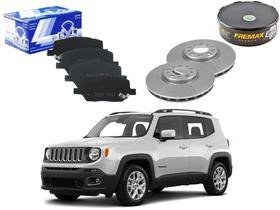 Kit disco pastilha freio dianteiro syl jeep renegade 1.8 2.0 2015 a 2019
