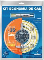 KIT Economia de Gás de Cozinha (Economizador de gás+Regulador 1 Kg/h+Abraçadeiras+Mangueira 1,20m