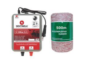 Kit Eletrificador Cerca Rural 30km BV + Cabo 500m