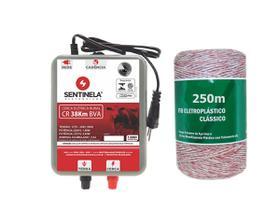 Kit Eletrificador Cerca Rural Cr 38km + Cabo 250m
