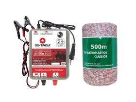 Kit Eletrificador Cerca Rural Lb 50km + Cabo 500m