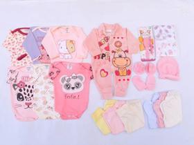 Kit Enxoval 18 Pçs Maternidade Completo Roupa De Bebe Menina