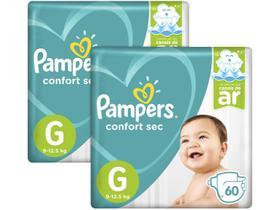 Kit Fralda Pampers Confort Sec Tam. G