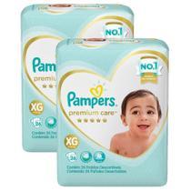 kit Fralda Pampers Premium Care Mega Tamanho XG 52 Unidades