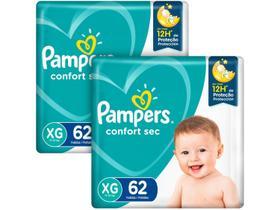 Kit Fraldas Pampers Confort Sec Tam. XG 11 a 15kg